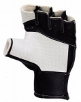 Short Black Shooting Gloves with Strechable Band
