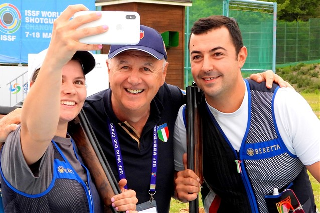 Trap Mixed Team Event win for the Italian team in a closely contested final